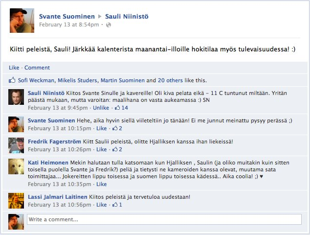 Tasavallan Presidentti Sauli Niinistö ja Käpylä Maanantai PP '11